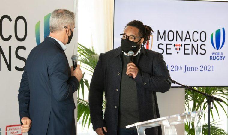 M. Mathieu Bastareaud à la présentation du Monaco 7s
